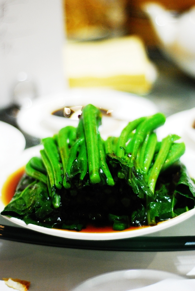 Chinese vegetables with oyster sauce. Always a good choice since yumcha dishes err on the oily side.
